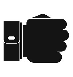 hand fist icon simple black style vector image vector image