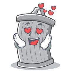 in love trash character cartoon style vector image vector image