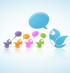 Social Media Discussion vector image vector image