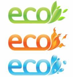 three eco emblems vector image