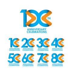 100 years anniversary celebrating template design vector
