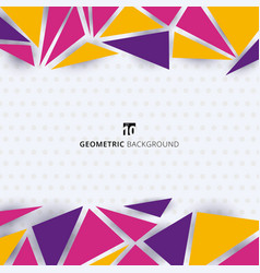 abstract template modern style colorful geometric vector image