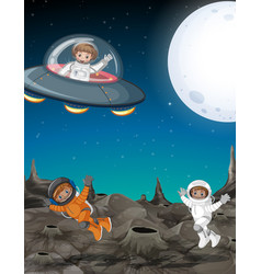 Astronaut explore space vector