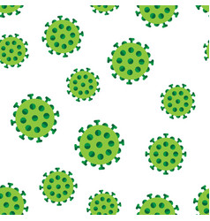 Bacteria virus in green colors seamless pattern vector