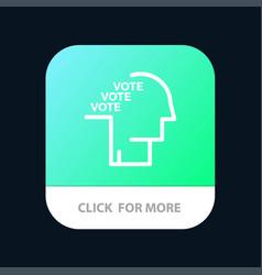 Ballot election poll referendum speech mobile app vector