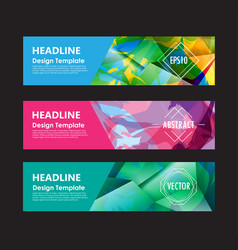 Banner abstract colorful polygon background vector