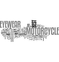 Best find motorcycle eyewear text word cloud vector