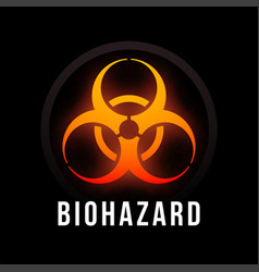 Biohazard fire color poster with black background vector