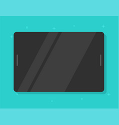 black tablet isolated with blank empty screen vector image