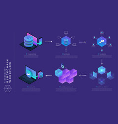 Blockchain and cryptocurrency concept vector