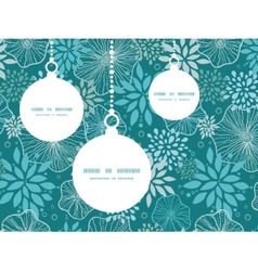 Blue and gray plants Christmas ornaments vector