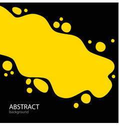 bright abstract background yellow paint and spray vector image