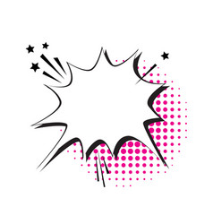 Chat bubble icon pop art style social media vector