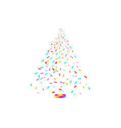 Christmas tree from confetti on white background vector