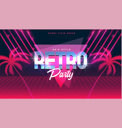 classic retro music party flyer banner with vector image