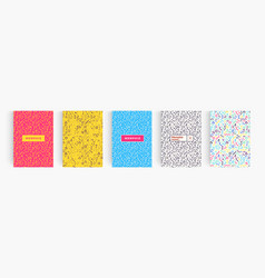 Colorful abstract minimalistic style posters set vector