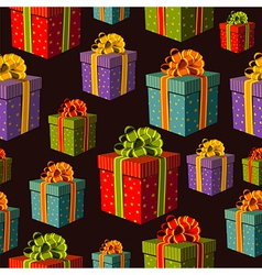 colorful group gift boxes pattern vector image