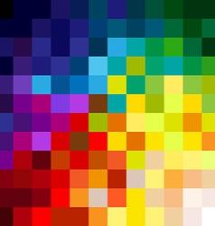 Colorful pixels vector image