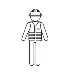 Construction worker people icon design vector
