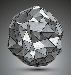 Deformed metallic object created from geometric vector