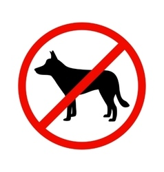 Dogs is prohibited vector