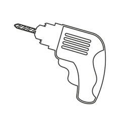 drill tool construction icon vector image