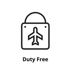 duty free line icon vector image