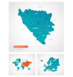 editable template map bosnia vector image