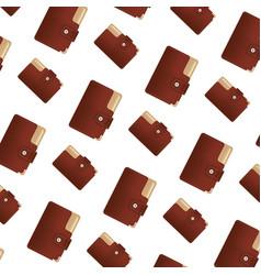 elegant wallet to save money background vector image