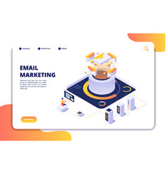 email marketing mail automation strategy email vector image