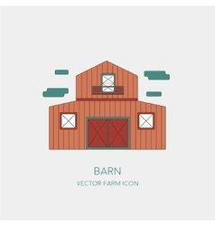 Farming icon of the barn isolated on white vector image
