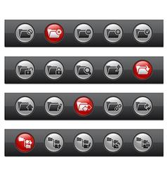 Folder 1 Buttons vector image