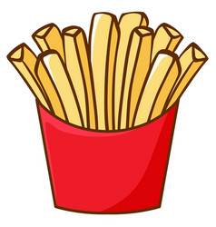 Frenchfries on white background vector