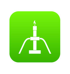 gas flaring icon digital green vector image