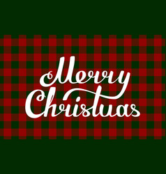 gingham christmas red green traditional pattern vector image