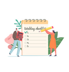 Holiday event organization couple planning vector