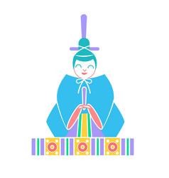 icons emperor dolls vector image