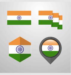 india flag design set vector image