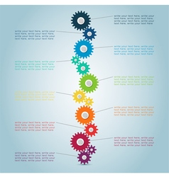 Infographic cog steps 2 vector