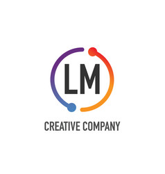 initial letter lm creative circle logo design vector image