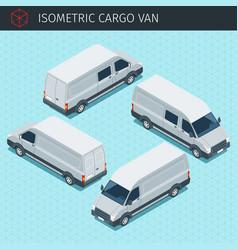 Isometric minibus car vector