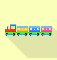 kid train toy icon flat style vector image