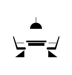 kitchen table with chairs black concept vector image