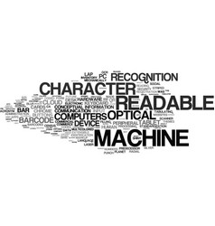 Machine-readable word cloud concept vector