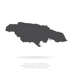 map jamaica isolated black vector image