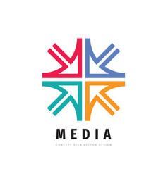 Media concept business development logo design vector