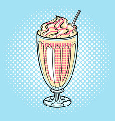 Milk shake pop art vector