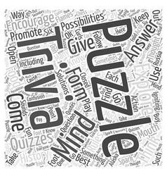 Mind Trivia Puzzles Word Cloud Concept vector