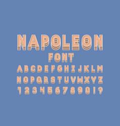 Napoleon font alphabet vector