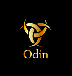 odin- the graphic is a symbol of the horns of odin vector image
